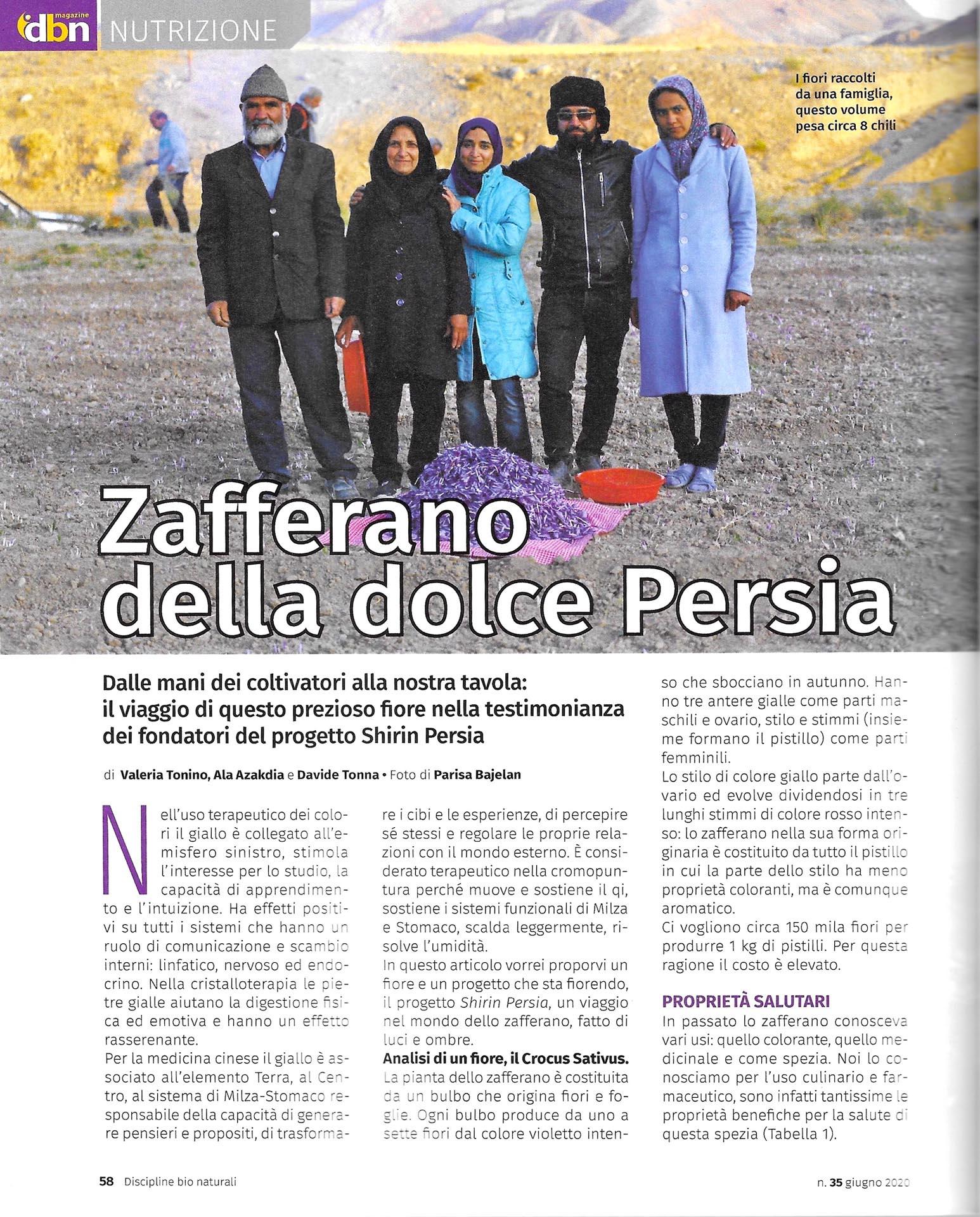 dbn magazine shirin persia